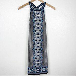 Max Studio Blue Women Sleeveless Dress Sma…